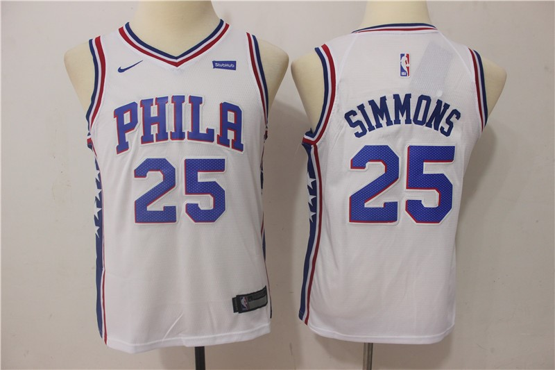 Kids NBA Jersey Ben Simmons 25 White