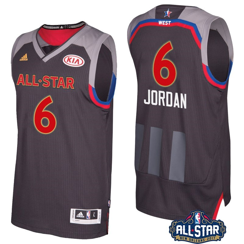 NBA All Star Jerseys 2017 Deandre Jordan 6 Charcoal