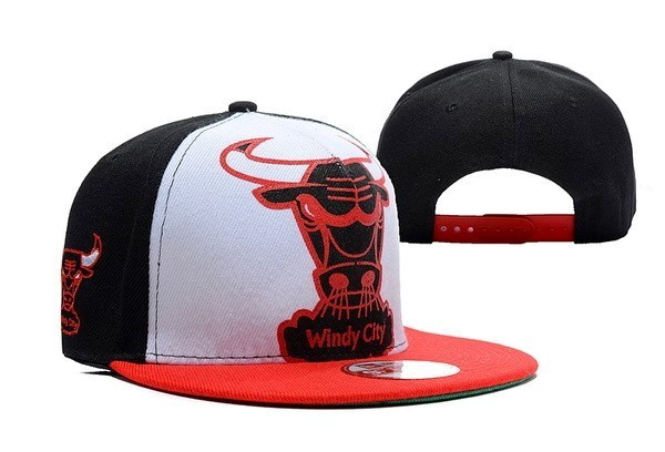 NBA Hats Chicago Bulls 2018 White 5