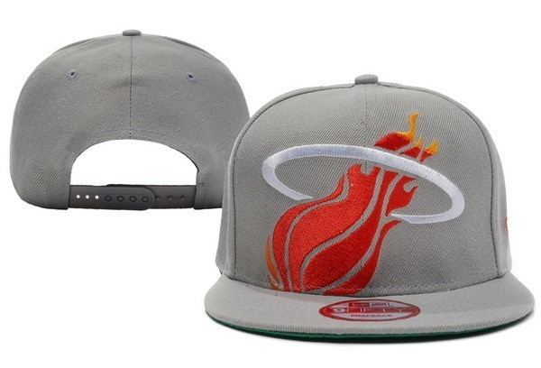 NBA Hats Miami Heat 2018 Grey Red 2