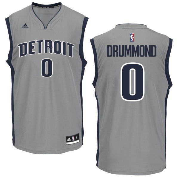 NBA Jerseys Andre Drummond 0 Grey