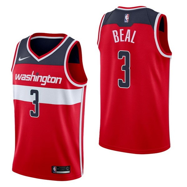 NBA Jerseys Bradley Beal 3 Red Icon