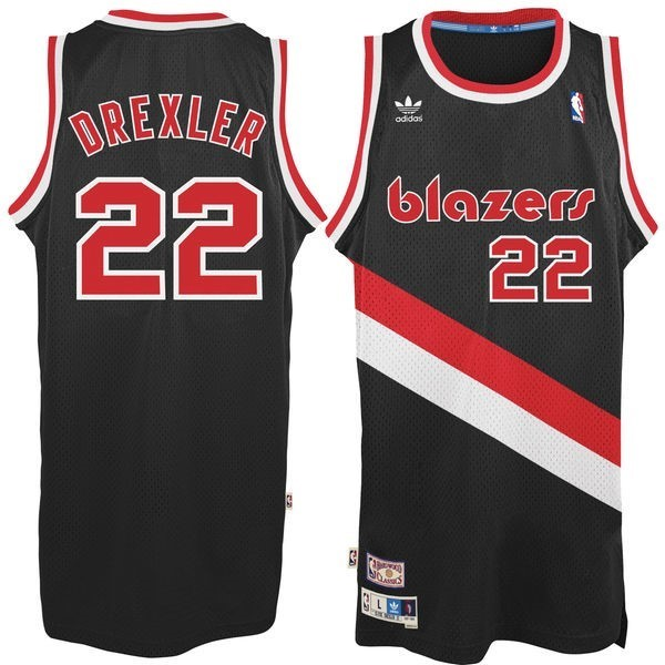 NBA Jerseys Clyde Drexler 22 Black