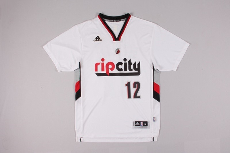 NBA Jerseys LaMarcus Aldridge 12 White Short Sleeve