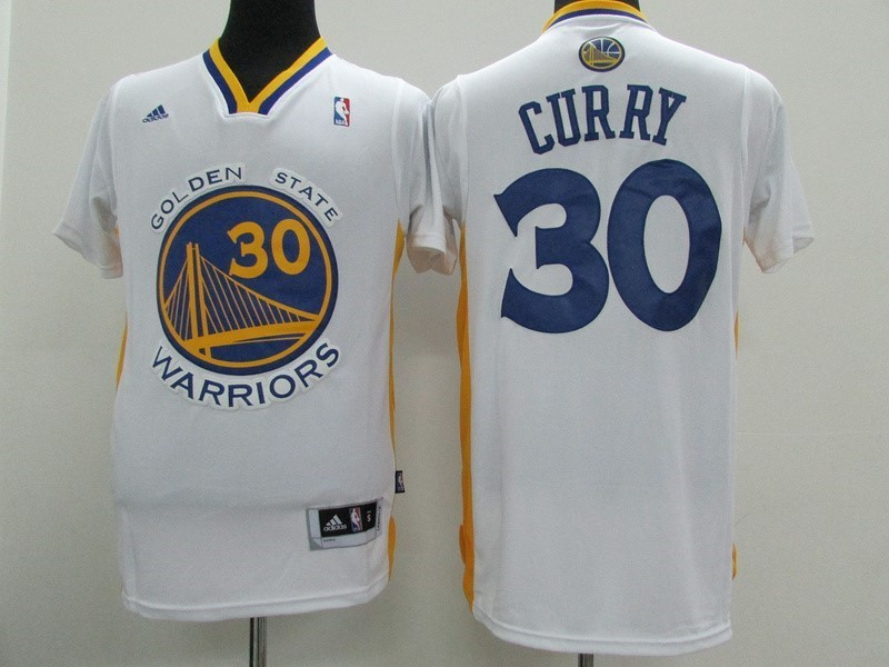 NBA Jerseys Stephen Curry 30 White Short Sleeve