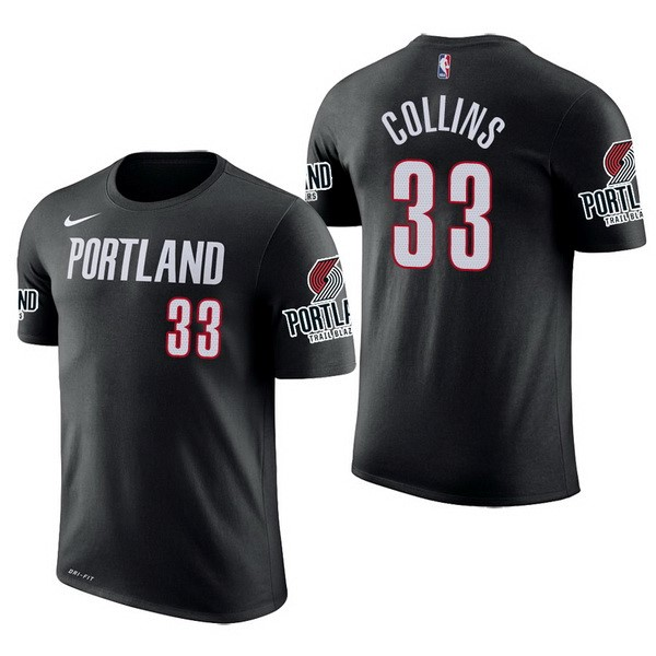 NBA Short Sleeve Zach Collins 33 Black
