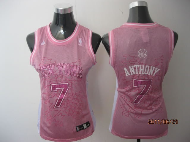 Womens NBA Jersey Carmelo Anthony 7 Pink