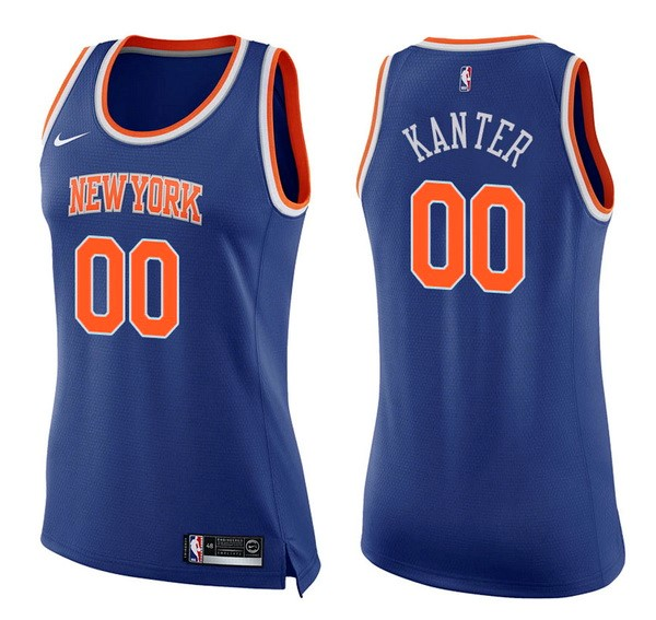 Womens NBA Jersey Enes Kanter 0 Blue Icon