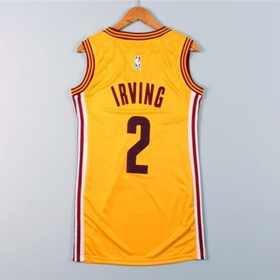 Womens NBA Jersey Kyrie Irving 2 Yellow