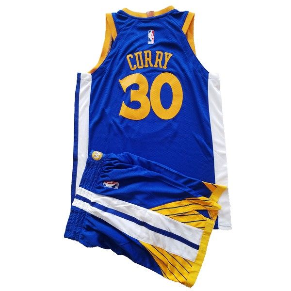 Kids NBA Jersey Stephen Curry 30 Conjunto Completo Blue
