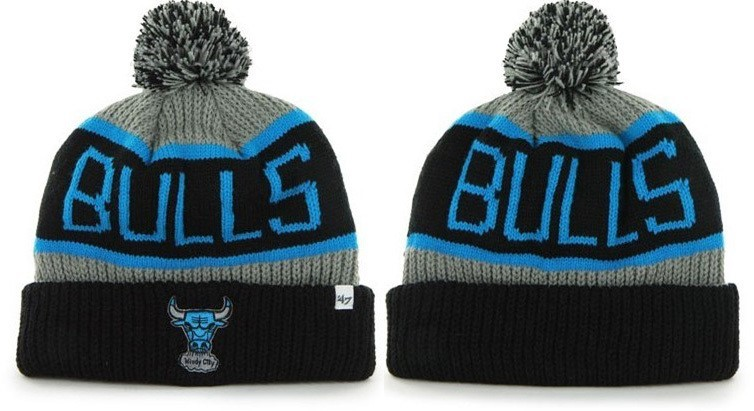 Knit Hats Chicago Bulls 2017 Black Blue