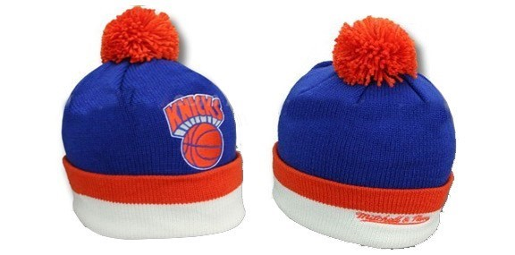 Knit Hats New York Knicks 2017 Orange Blue White