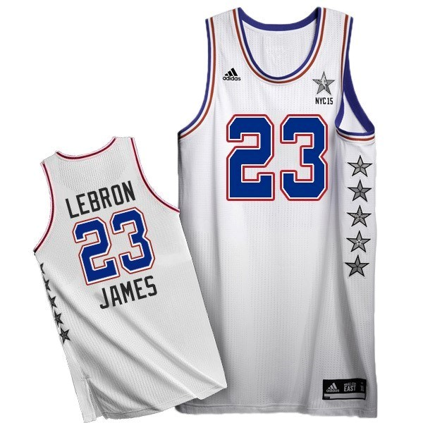 NBA All Star Jerseys 2015 LeBron James 23 White