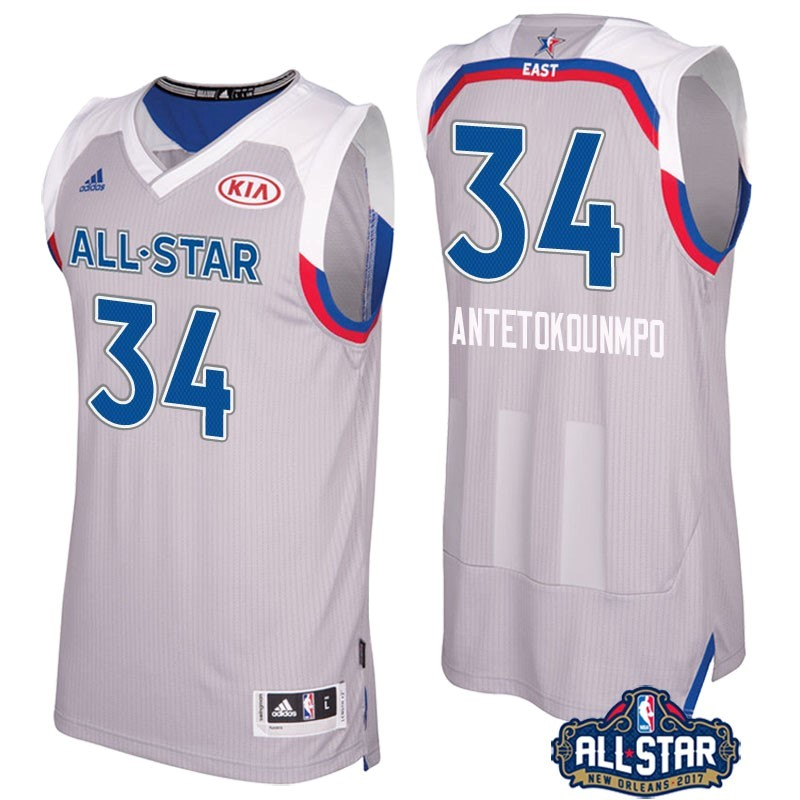 NBA All Star Jerseys 2017 Giannis Antetokounmpo 34 Gray