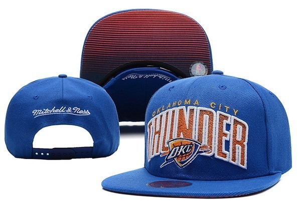NBA Hats Oklahoma City Thunder 2018 Blue 5