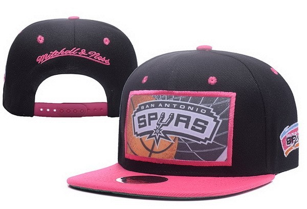 NBA Hats San Antonio Spurs 2017 Black Pink 1