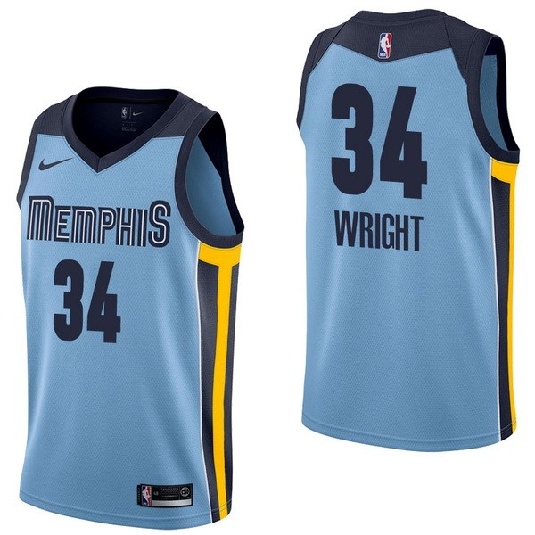 NBA Jerseys Brandan Wright 34 Blue Statement