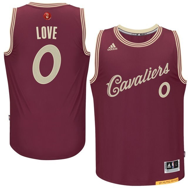 NBA Jerseys Christmas Love 0 Red