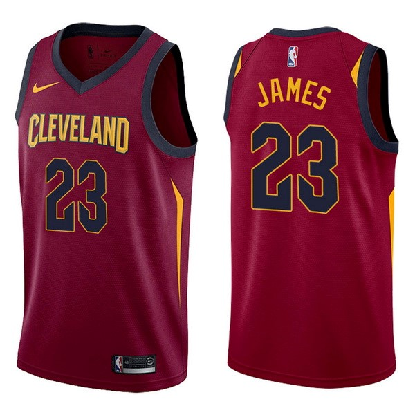 NBA Jerseys LeBron James 23 Red Icon