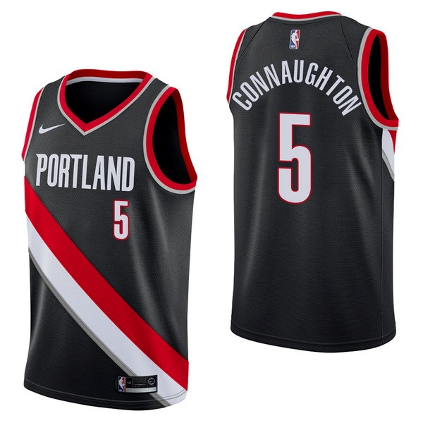 NBA Jerseys Pat Connaughton 5 Black Icon