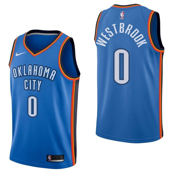 NBA Jerseys Russell Westbrook 0 Blue Icon