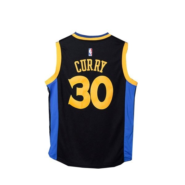 NBA Jerseys Stephen Curry 30 Black Yellow