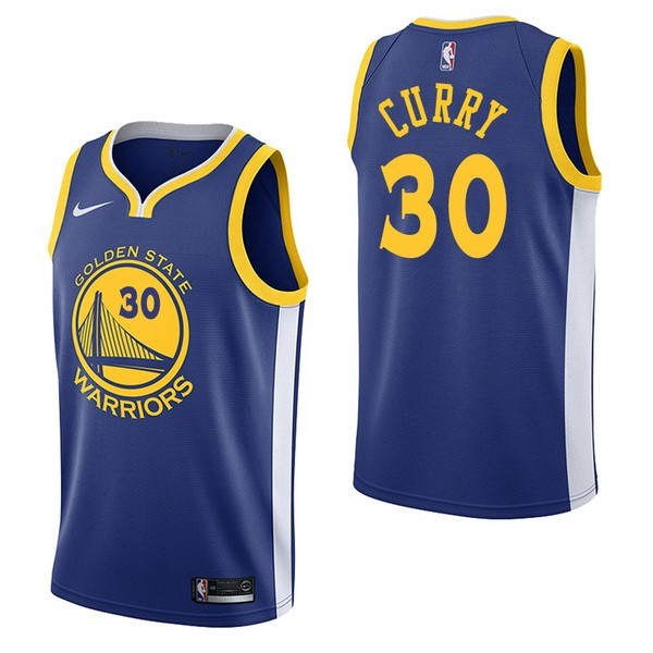 NBA Jerseys Stephen Curry 30 Blue Icon