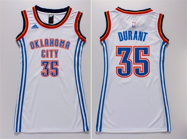 Womens NBA Jersey Kevin Durant 35 White