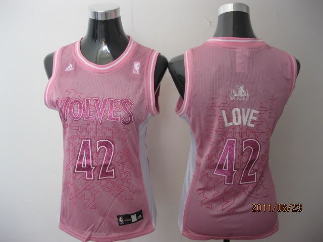 Womens NBA Jersey Kevin Love 42 Pink